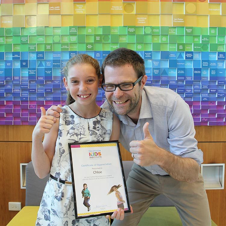 Chloe with Professor Andrew Whitehouse