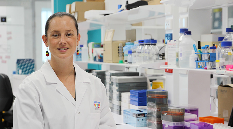 Cancer researcher Dr Jessica Buck